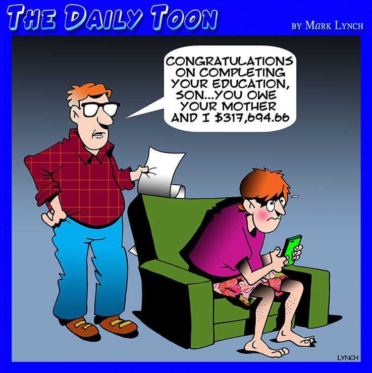 Education costs cartoon