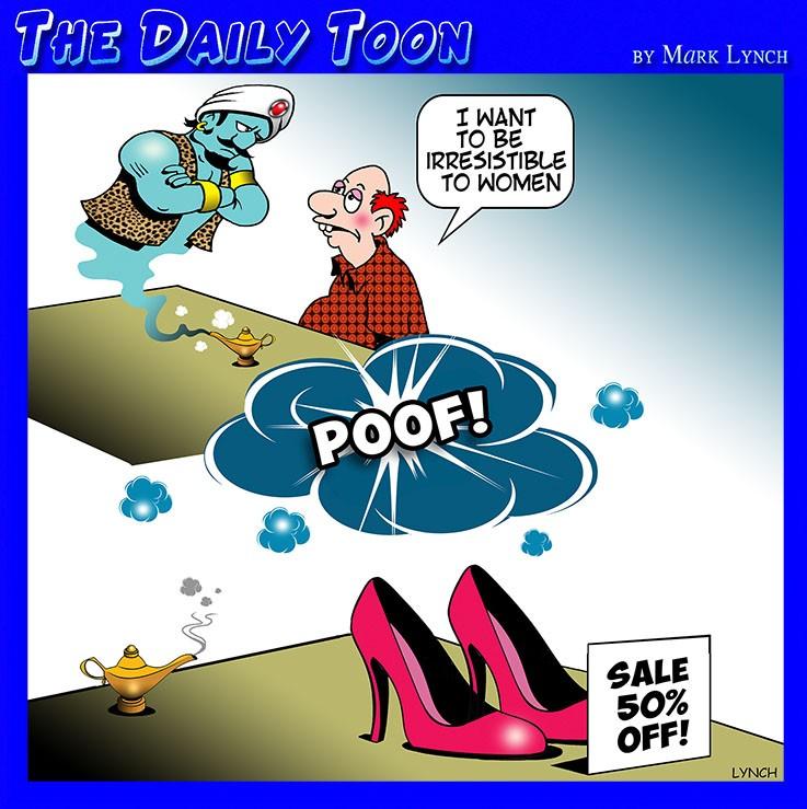 Woman's high heel shoes cartoon