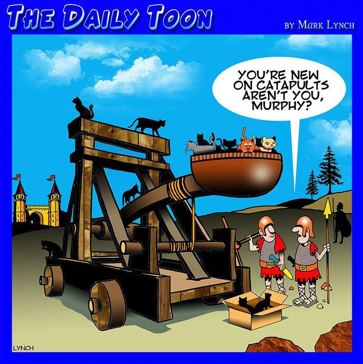 Medieval catapult cartoon