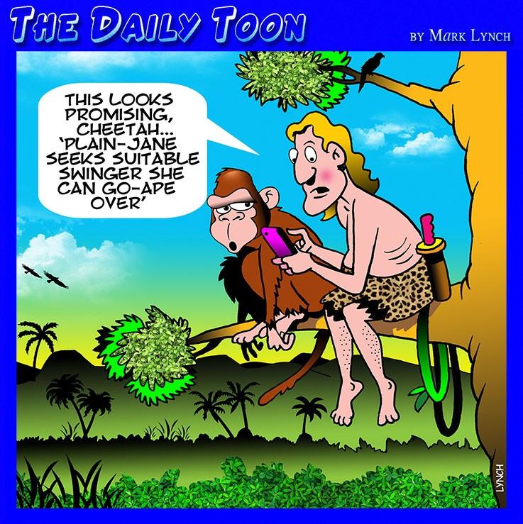 Tarzan and Jane cartoon
