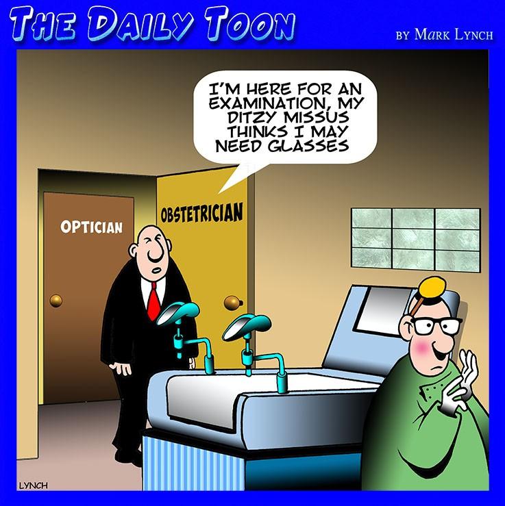 Short sighted cartoon
