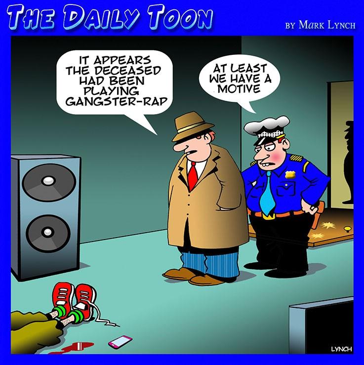 Gangster rap cartoon