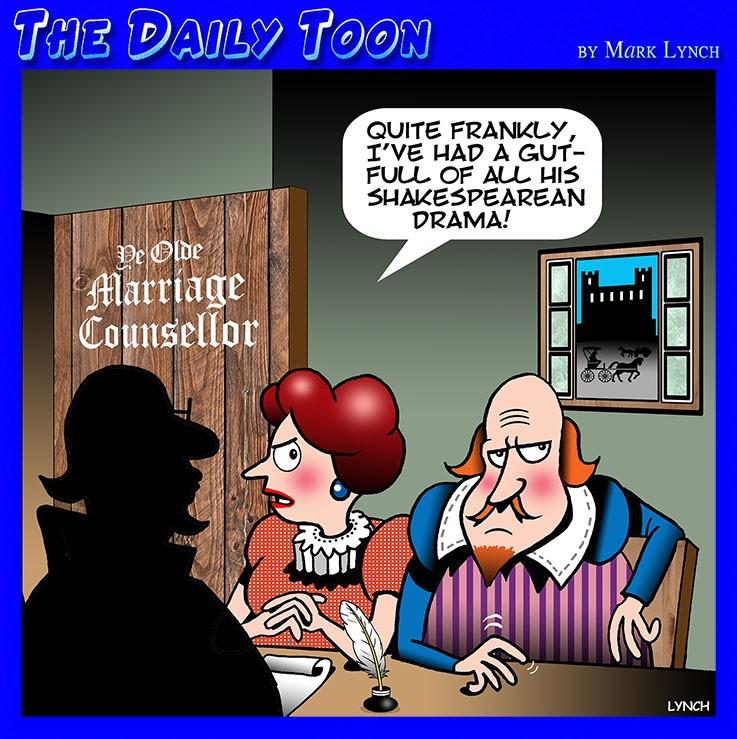 Shakespeare play cartoon
