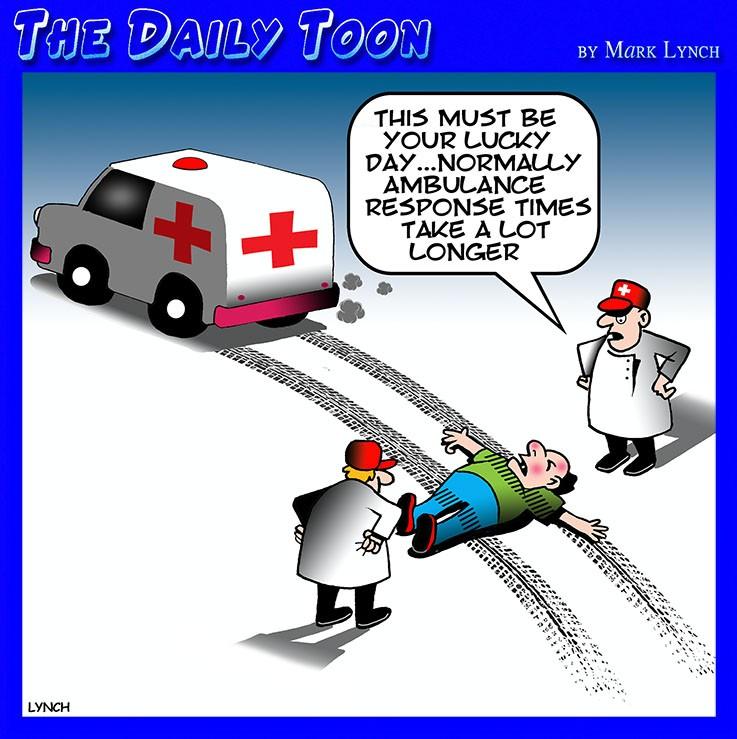 Ambulance waiting time cartoon