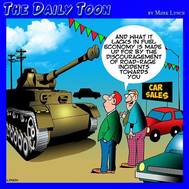 Used car salesman cartoon