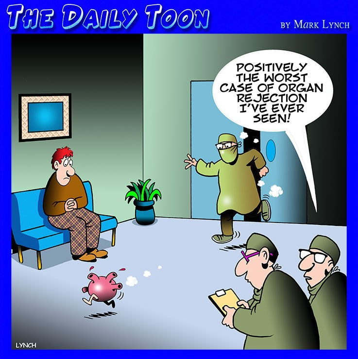 Organ rejection cartoon