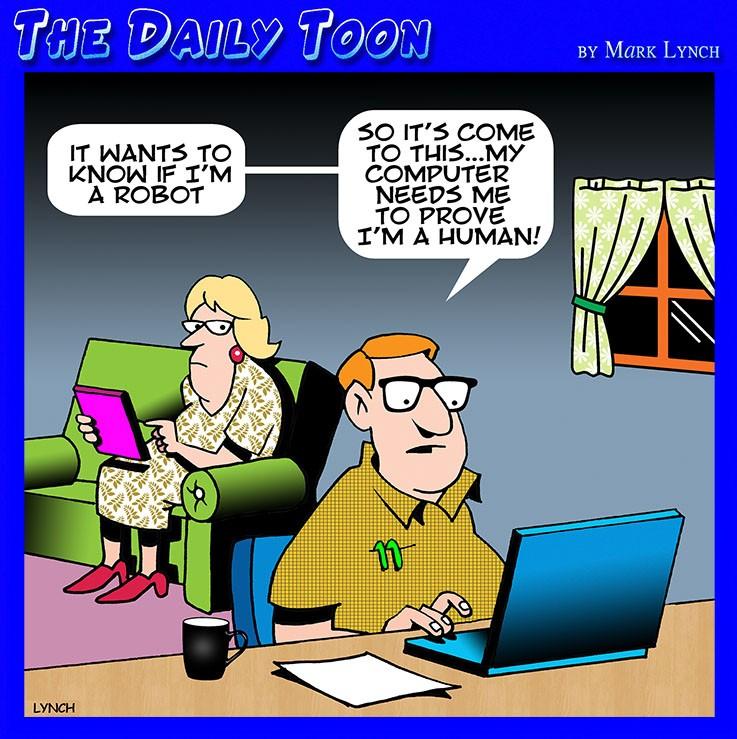 Passwords and usernames cartoon