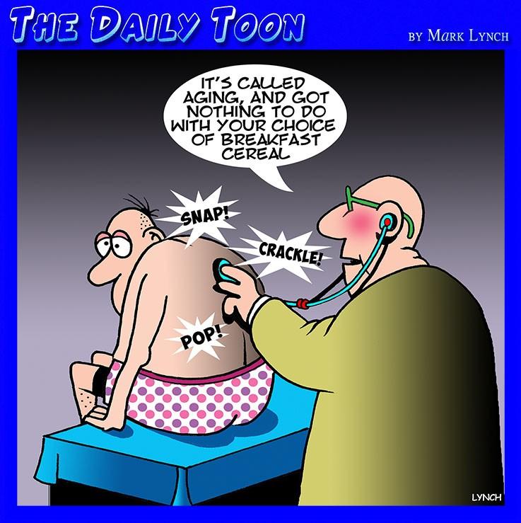 Aging cartoon