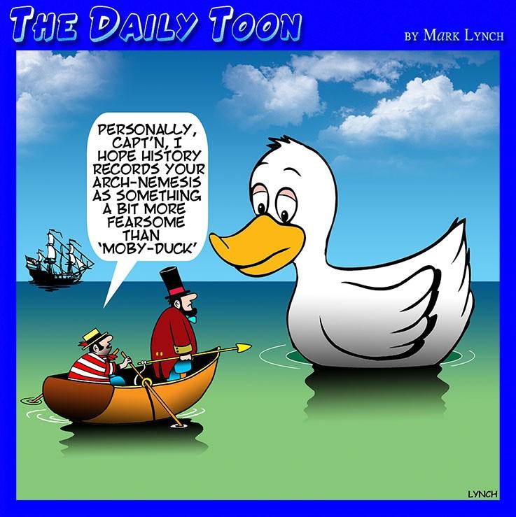 Captain Ahab cartoon