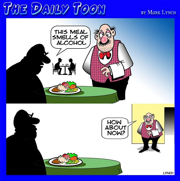 Restaurant scene cartoon