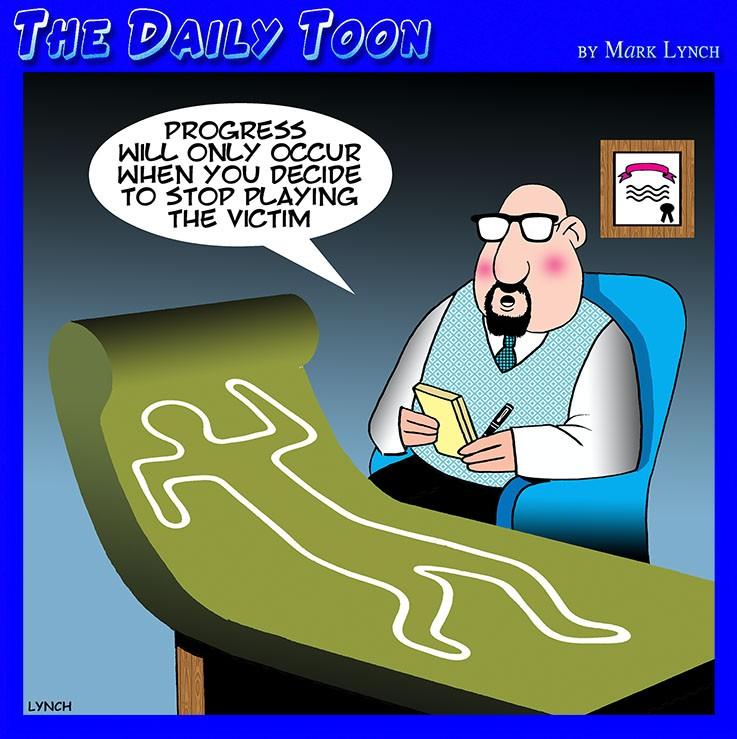 Psychiatrist couch cartoon