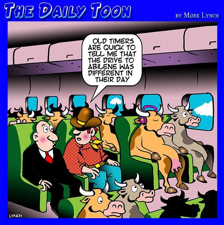 Air travel cartoon