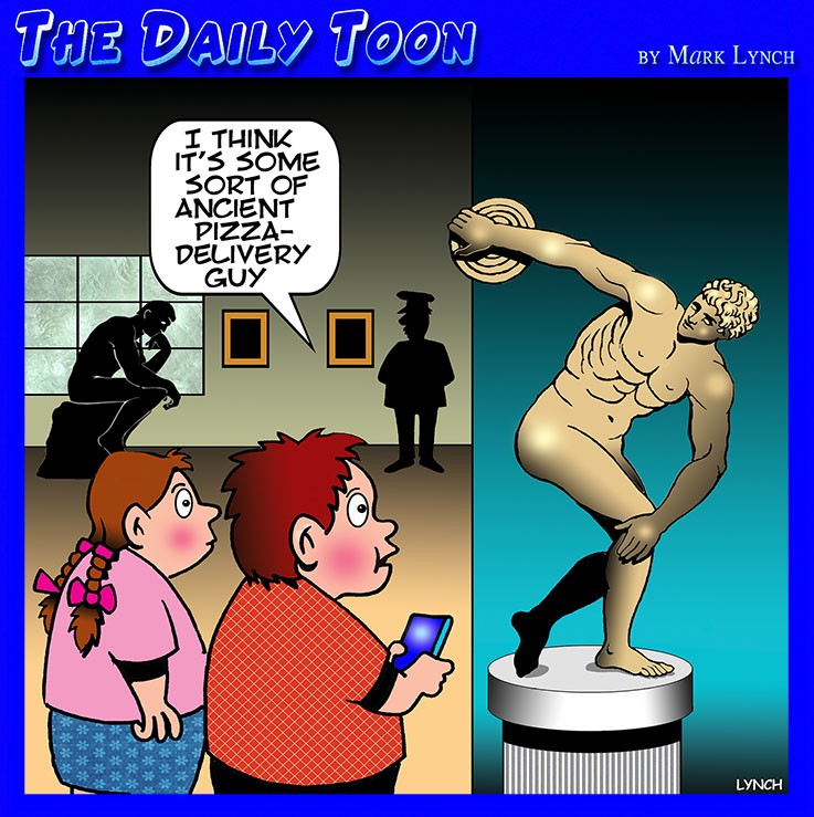 Museum cartoon