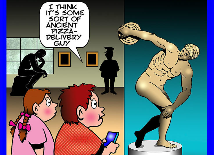 Museum cartoon
