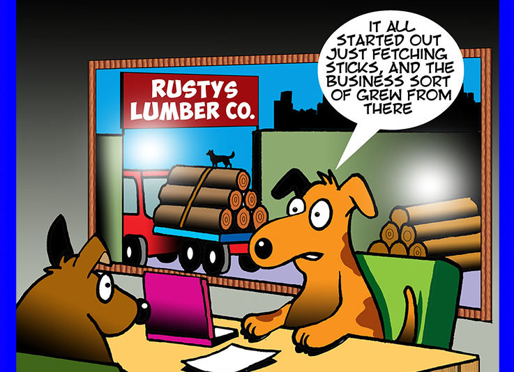 Lumber yard cartoon