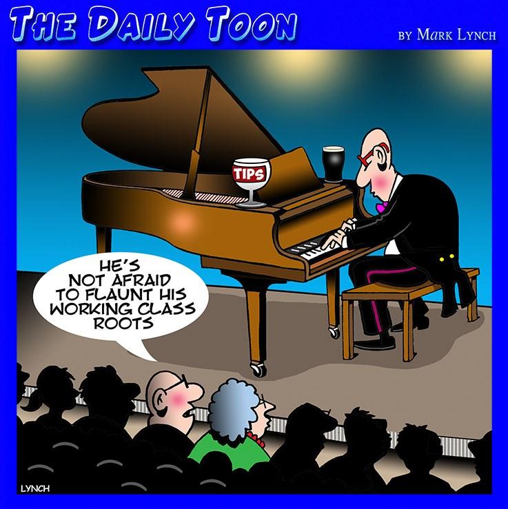 Piano recital cartoon