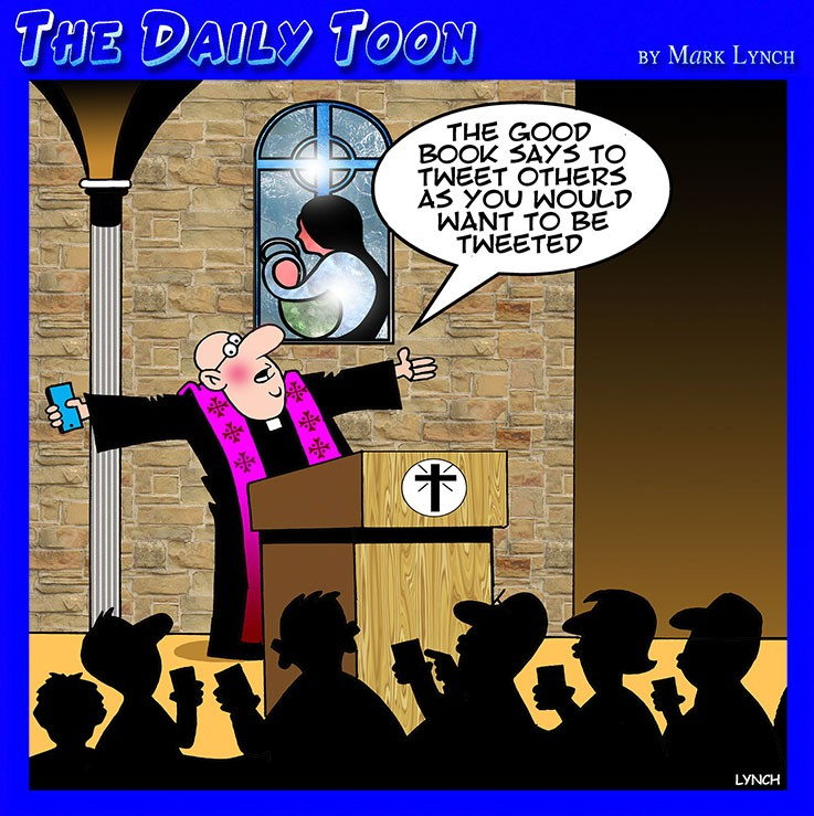 Bible cartoon