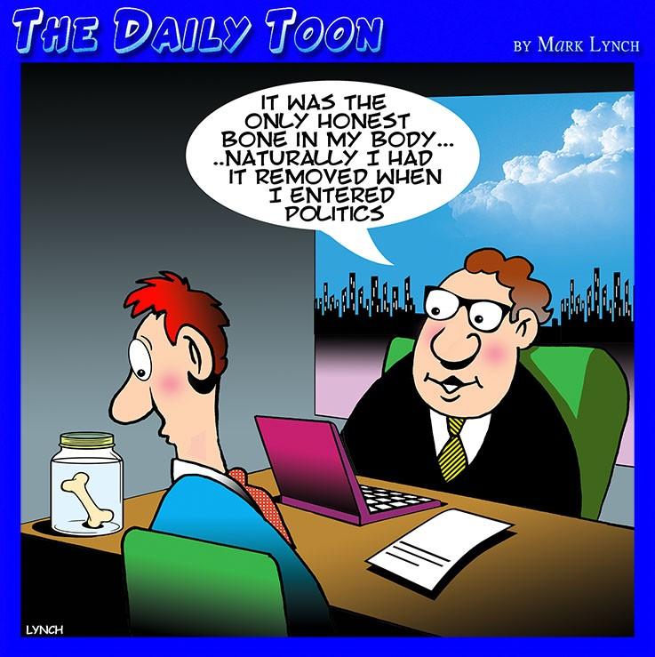 Crooked politician cartoon