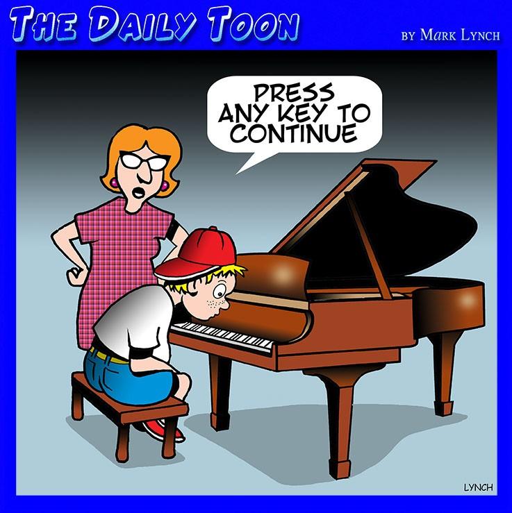 Music teacher cartoon