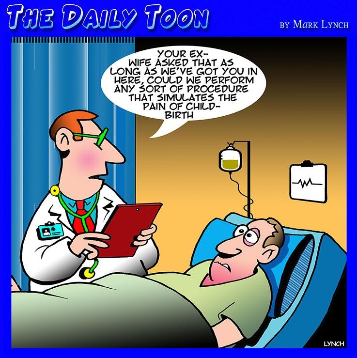 Hospital bed cartoon