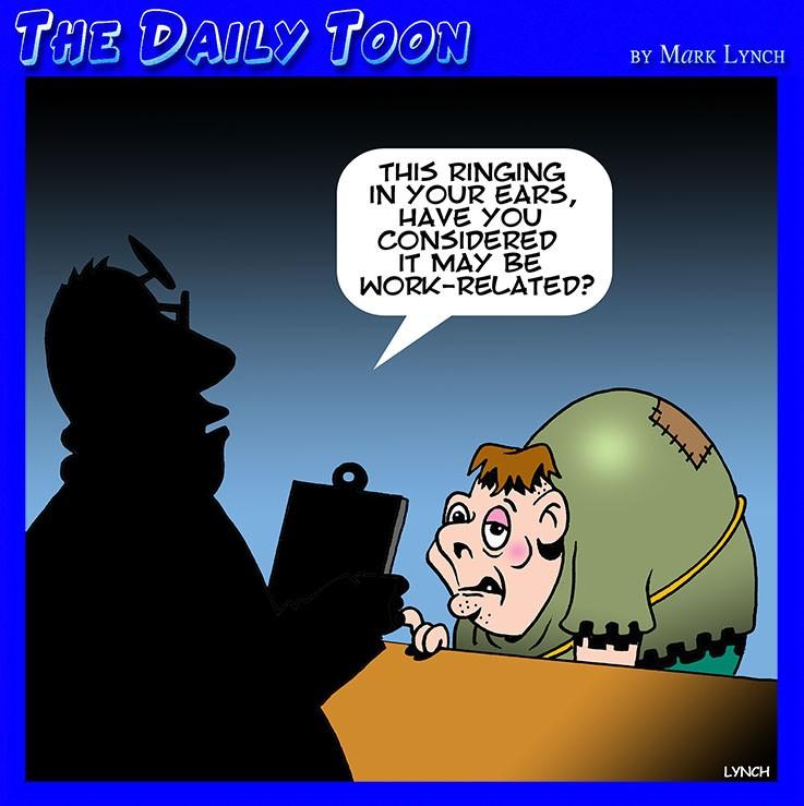 Ringing in the ears cartoon