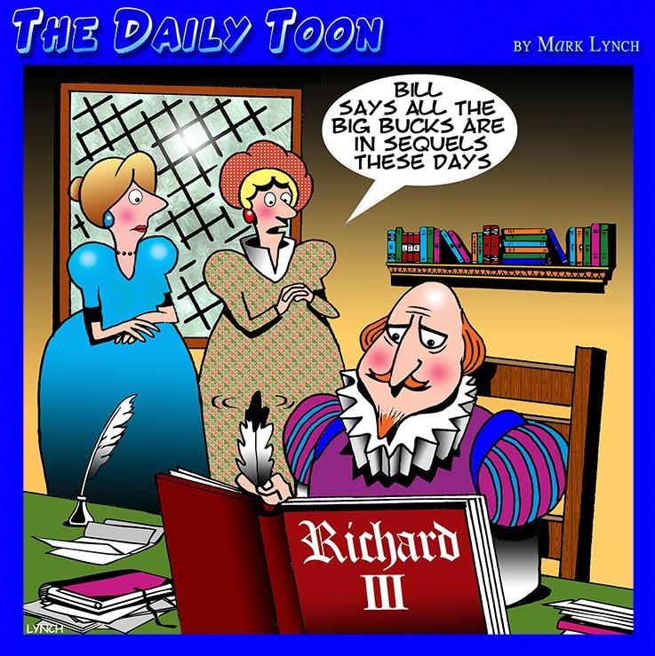 Playwright cartoon