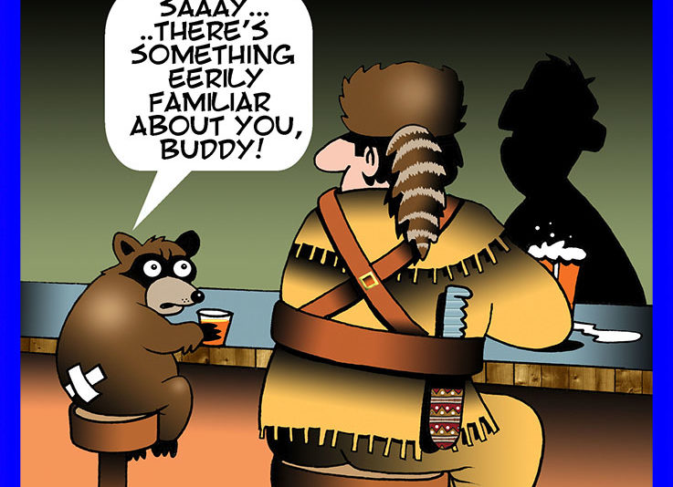 Raccoon tail cartoon