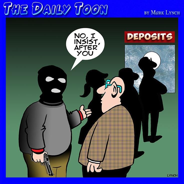 Armed robbery cartoon