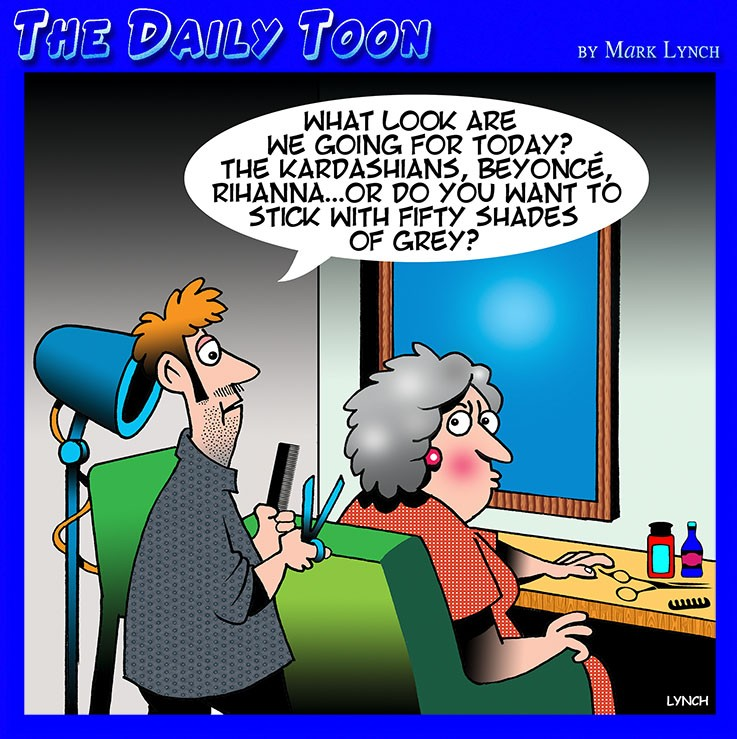 Hairdresser cartoon