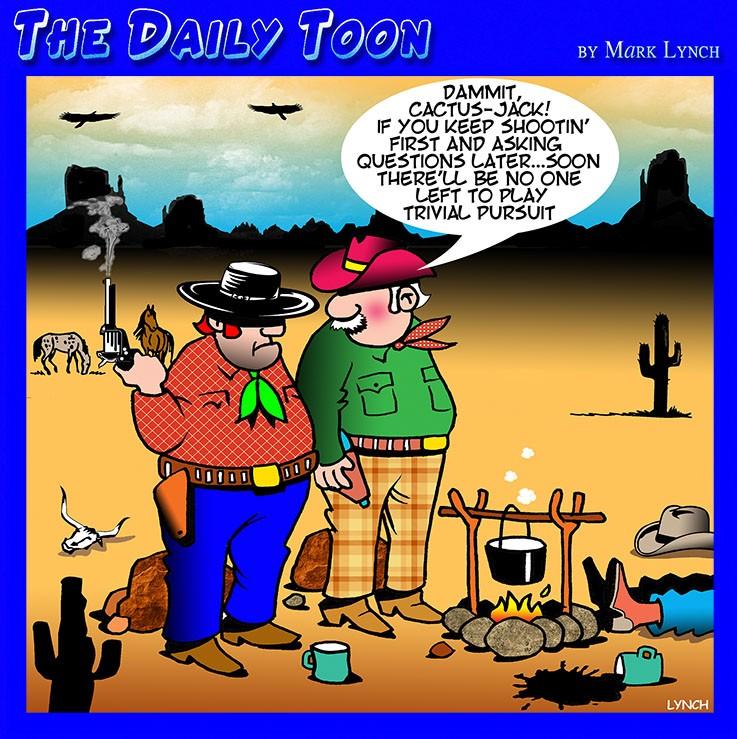 Wild West shootout cartoon