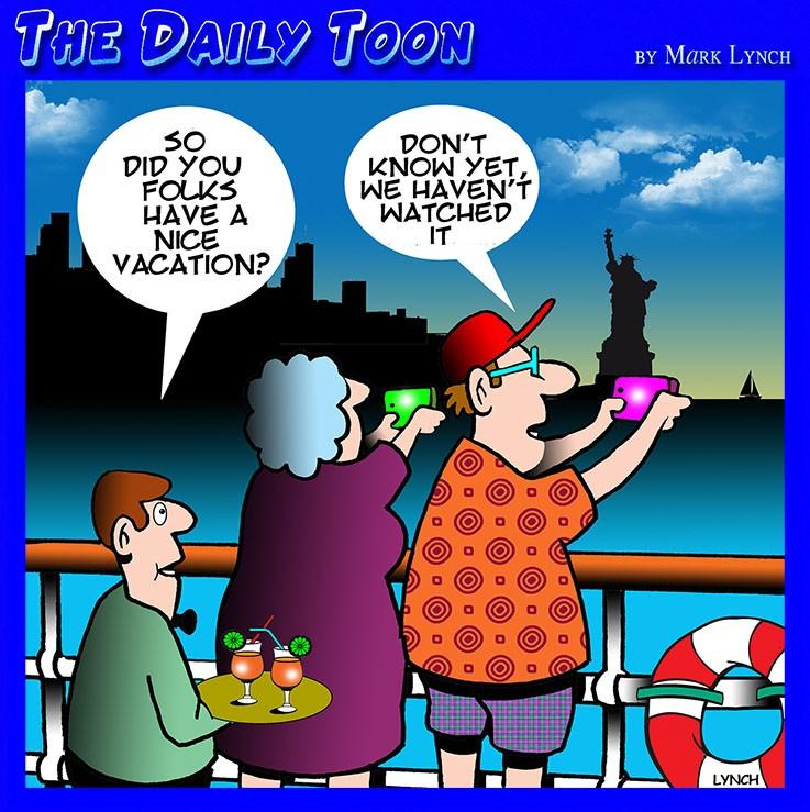 Holiday photos cartoon
