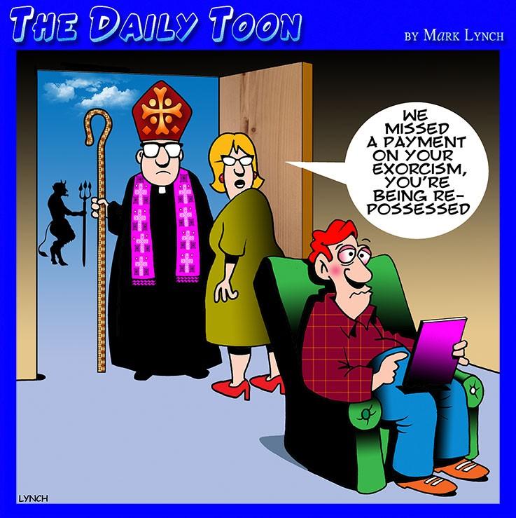 Repossessed cartoon