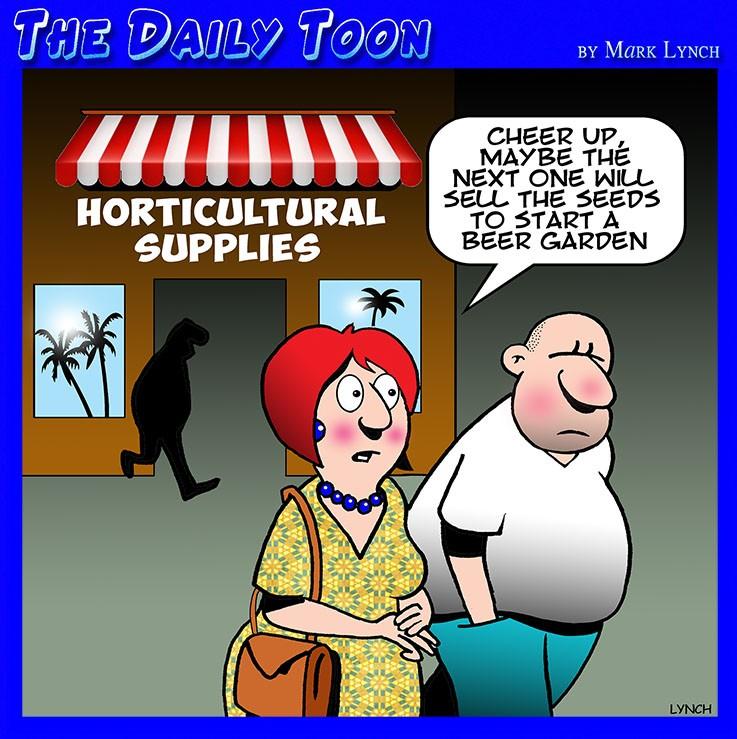 Flower shop cartoon