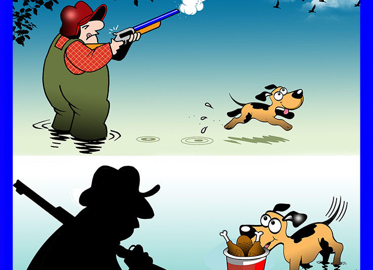 Hunting cartoon