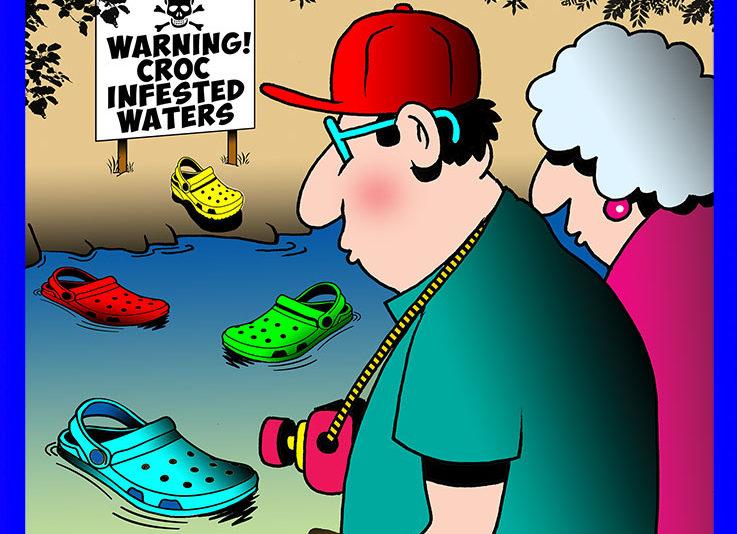 Crocodiles cartoon