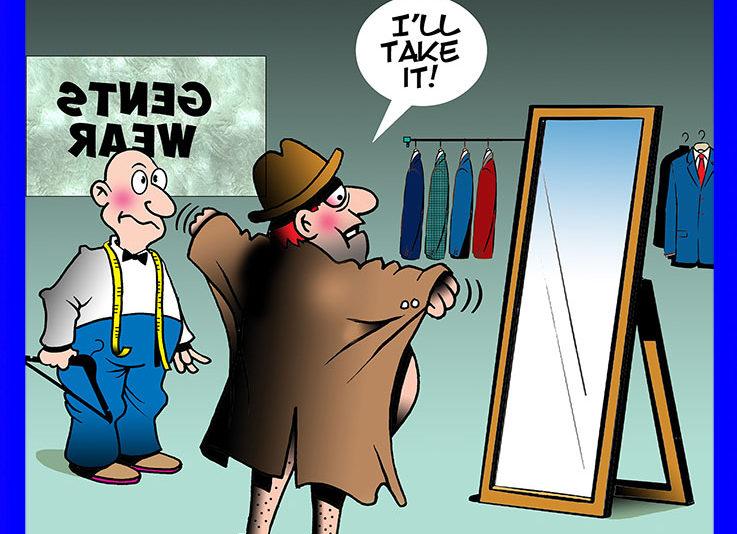 Exhibitionist cartoon