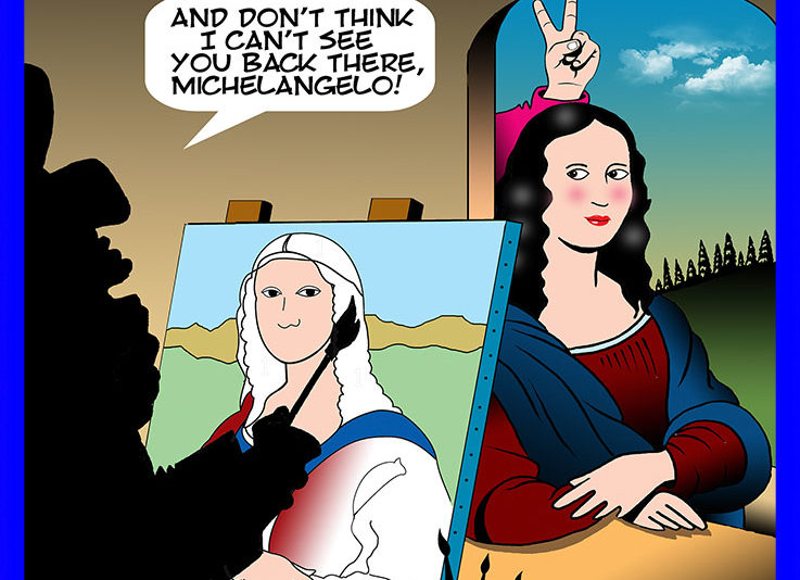 da Vinci cartoon