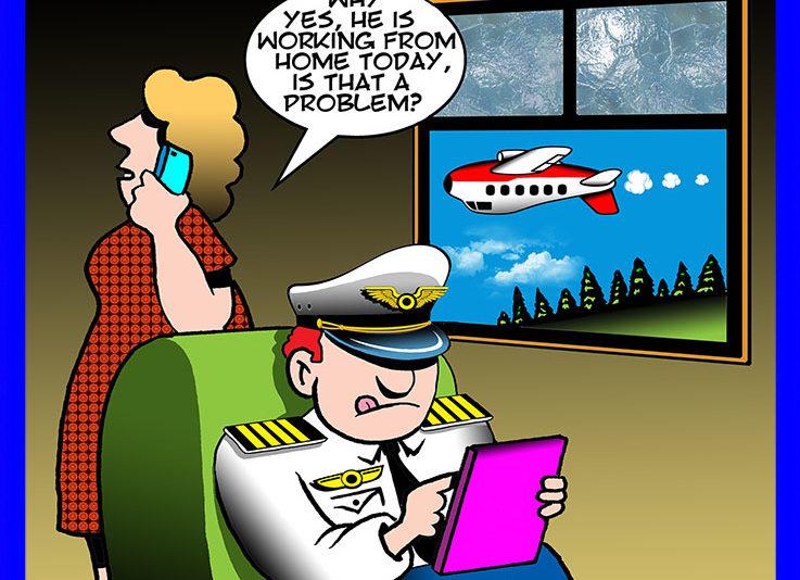 Airline pilot cartoon