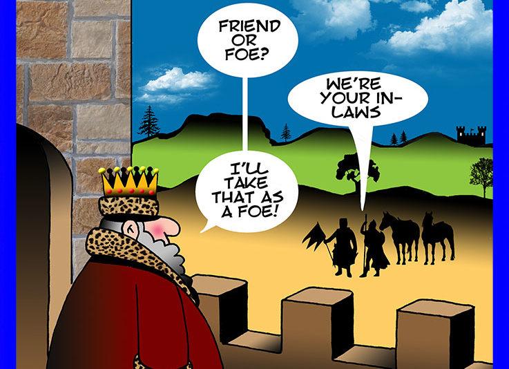 Friend or foe cartoon