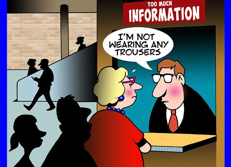 No trousers cartoon