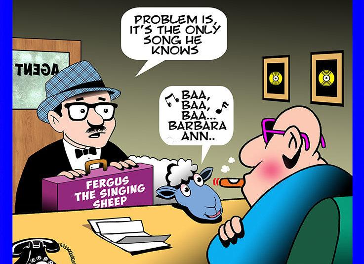 Talent agent cartoon