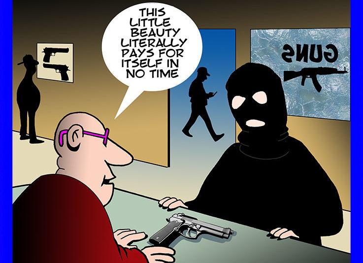 Gun shop cartoon