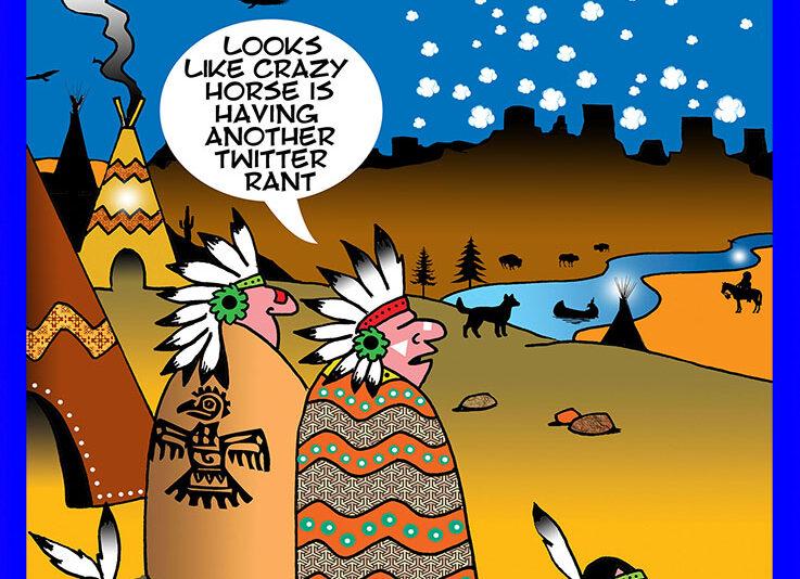 Crazy Horse cartoon