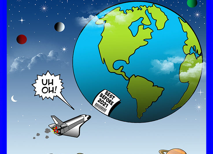 End of the world cartoon