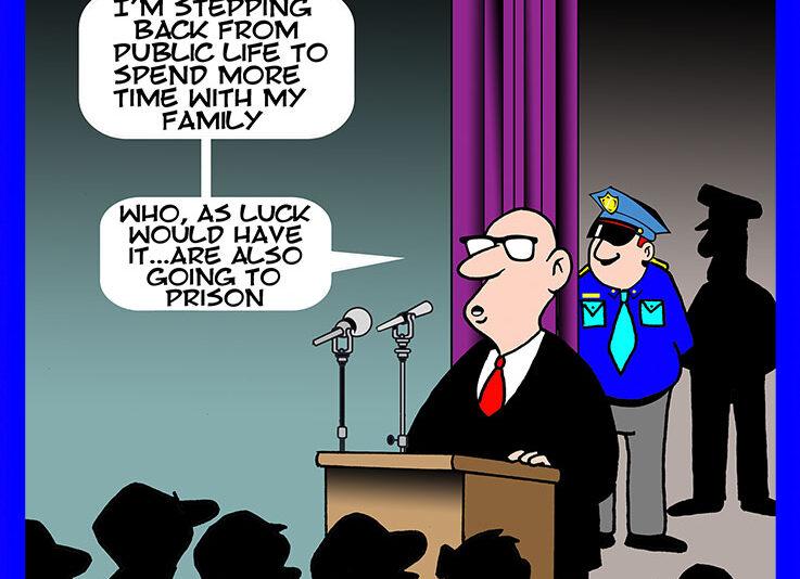 Corrupt politician cartoon