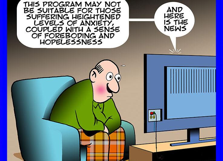 Anxiety cartoon
