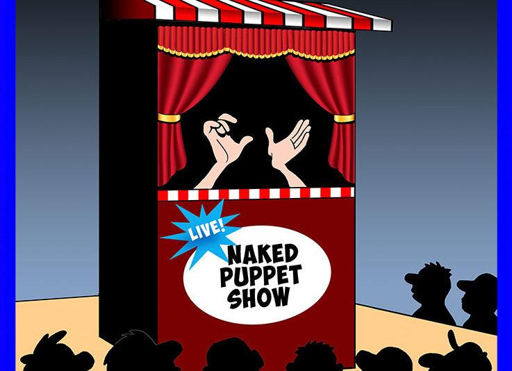 Puppet show cartoon