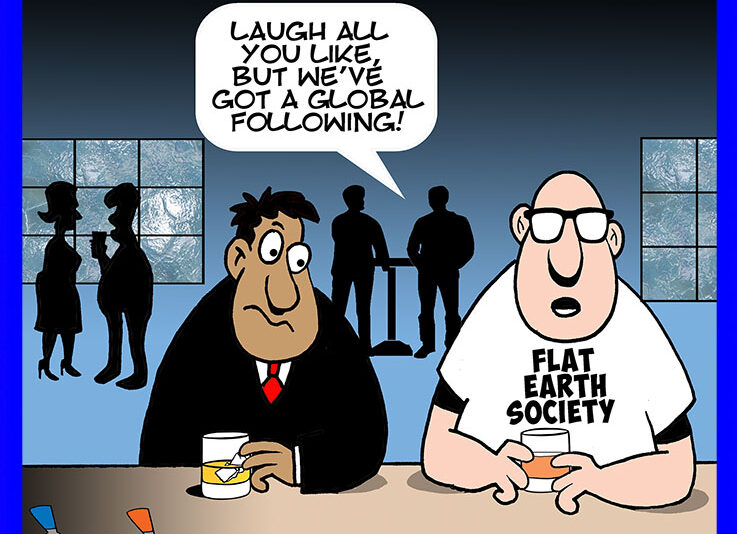 Conspiracy theories cartoon