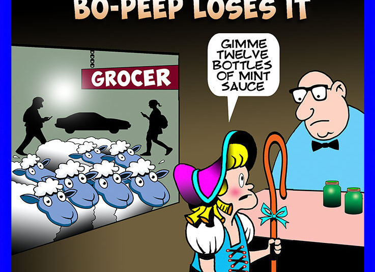 Lamb chops cartoon