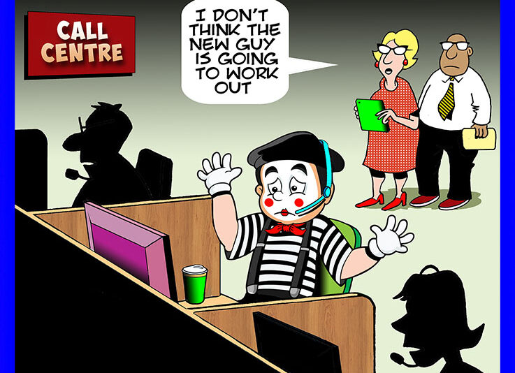Mime cartoon